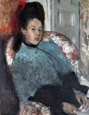 Portrait of Elena Carafa, c.1875 | Degas| Painting Reproduction