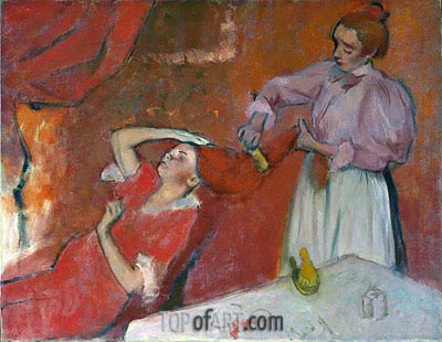 Combing the Hair ('La Coiffure'), c.1896 | Degas| Painting Reproduction