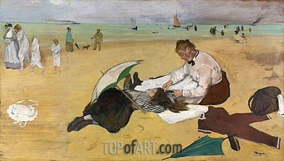 Beach Scene, c.1869/70 | Degas| Painting Reproduction