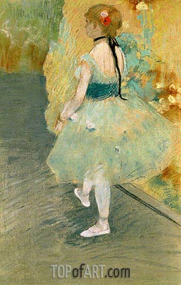 Dancer in Green, undated | Degas| Painting Reproduction