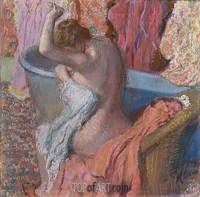 Wiping Bather, c.1895 | Degas | Painting Reproduction