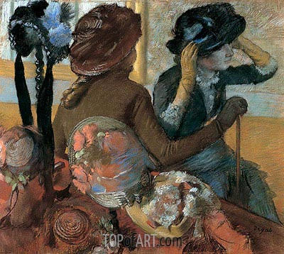 At the Milliner's, 1882 | Degas | Gemälde Reproduktion