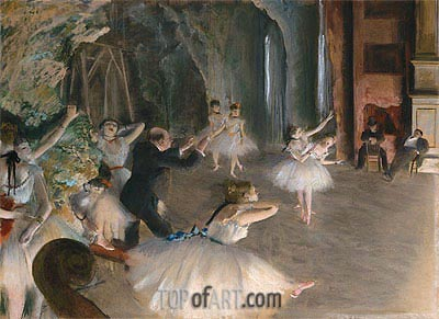 The Rehearsal Onstage, c.1874 | Degas | Painting Reproduction