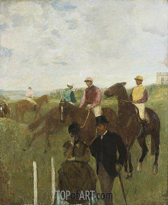 Jockeys at the Racecourse, undated | Degas| Gemälde Reproduktion