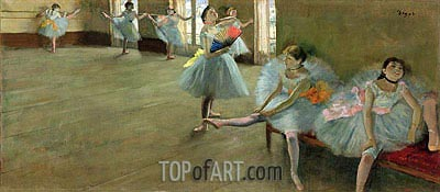 Degas | Dancers in the Classroom, c.1880