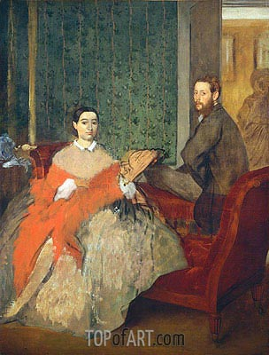 Edmondo and Therese Morbilli, c.1865 | Degas | Gemälde Reproduktion