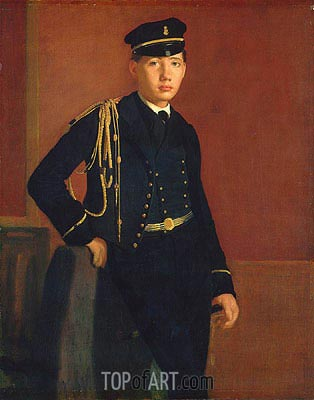 Degas | Achille De Gas in the Uniform of a Cadet, c.1856/57
