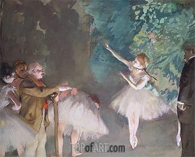 Ballet Rehearsal, 1875 | Degas| Painting Reproduction