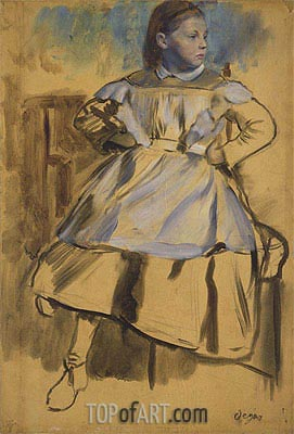 Giulia Bellelli, c.1858/59 | Degas | Gemälde Reproduktion