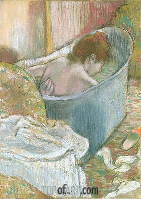 The Bath, undated | Degas | Gemälde Reproduktion