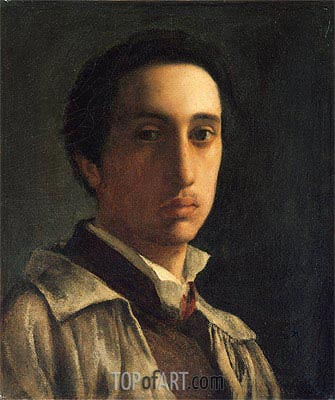 Self-Portrait, c.1854 | Degas | Painting Reproduction