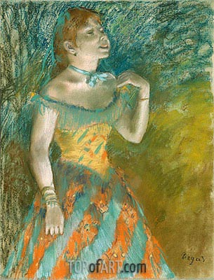 The Singer in Green, c.1884 | Degas| Painting Reproduction