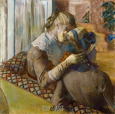 At the Milliner's, 1881 | Degas| Painting Reproduction