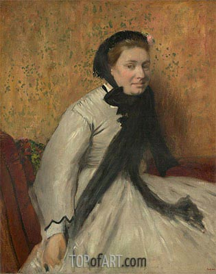 Portrait of a Woman in Gray, c.1865 | Degas | Painting Reproduction