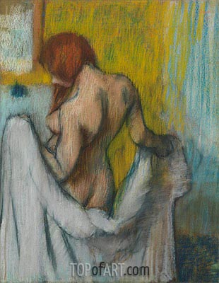 Woman with a Towel, c.1894/98 | Degas| Painting Reproduction
