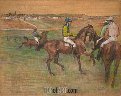 Degas | Race Horses, c.1885/88