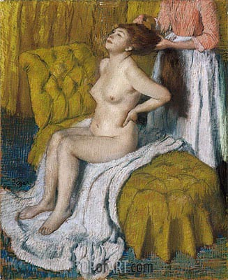 Woman Having Her Hair Combed, c.1886/88 | Degas | Painting Reproduction