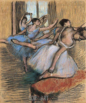 The Dancers, undated | Degas | Painting Reproduction