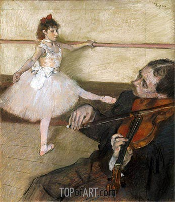 The Dance Lesson, c.1879 | Degas| Painting Reproduction