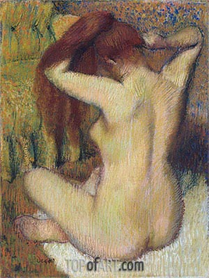Degas | Woman Combing Her Hair, c.1888/90