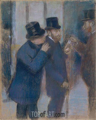 Degas | Portraits at the Stock Exchange, c.1878/79
