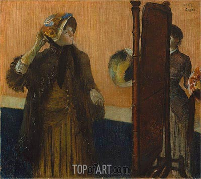 At the Milliner's, 1882 | Degas | Painting Reproduction