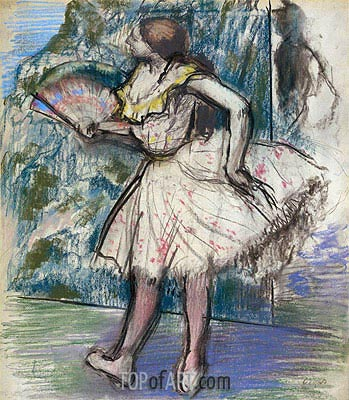 Dancer with a Fan, c.1890/95 | Degas| Painting Reproduction