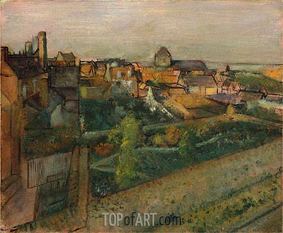 View of Saint-Valery-sur-Somme, c.1896/98 | Degas | Painting Reproduction