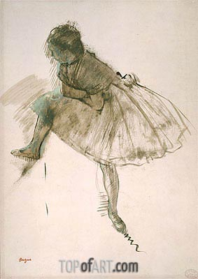Study of a Ballet Dancer, c.1873 | Degas| Painting Reproduction