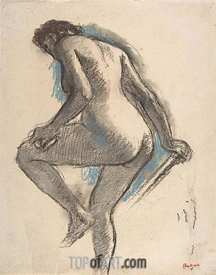 Degas | Bather Sponging Her Knee, c.1883/84