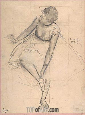 Dancer Adjusting Her Slipper, 1873 | Degas | Painting Reproduction