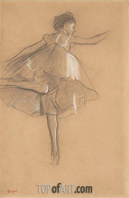Dancer on Pointe, c.1878 | Degas| Painting Reproduction