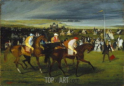 At the Races: The Start, c.1860/862 | Degas| Painting Reproduction