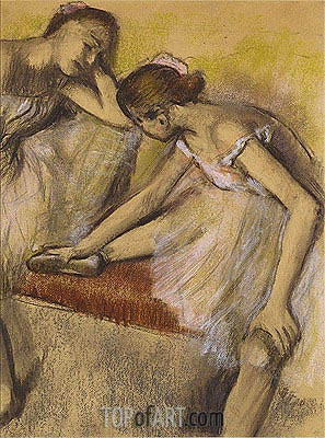 Dancers in Repose, c.1898 | Degas | Painting Reproduction