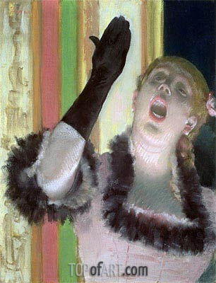 Degas | Cafe singer, c.1878