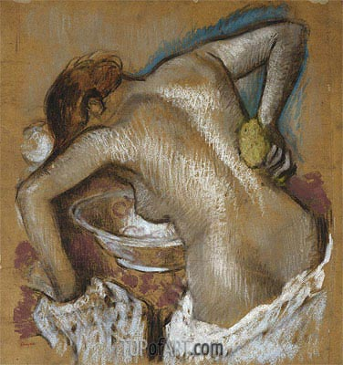 Woman Washing Her Back with a Sponge, c.1888/92 | Degas | Painting Reproduction