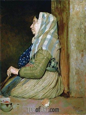 A Roman Beggar Woman, 1857 | Degas | Gemälde Reproduktion