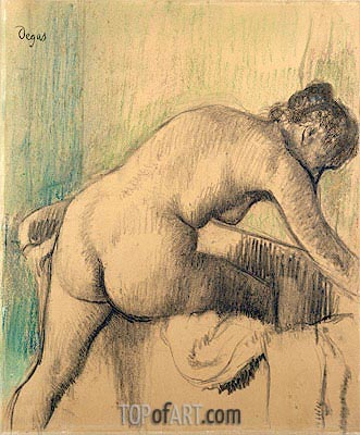 The Bath, 1883 | Degas| Painting Reproduction