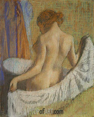 Degas | After the Bath, Woman with a Towel, c.1885/90