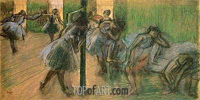 Dancers Rehearsing, c.1895/98 | Degas | Painting Reproduction