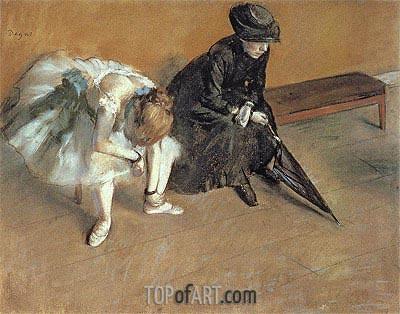 Degas | Waiting, c.1880/82