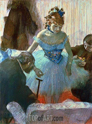 Dancer in Her Dressing Room , undated | Degas| Painting Reproduction