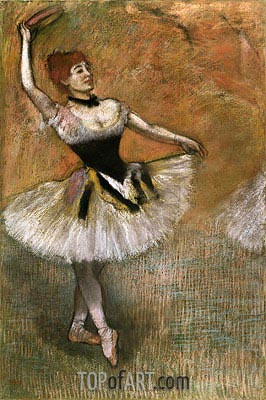 Dancer with Tambourine, c.1882 | Degas | Painting Reproduction