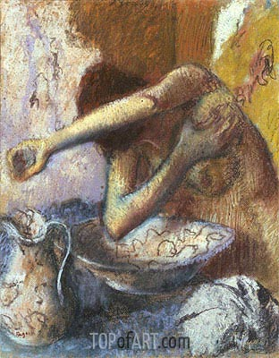 Woman at her Toilet, c.1887 | Degas| Painting Reproduction