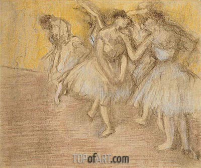 Five Dancers on Stage, c.1906/08 | Degas| Painting Reproduction