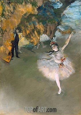 The Star (Dancer on the Stage), c.1876/77 | Degas | Painting Reproduction