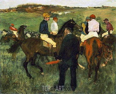 Racehorses (Leaving the Weighing), c.1874/78 | Degas| Painting Reproduction