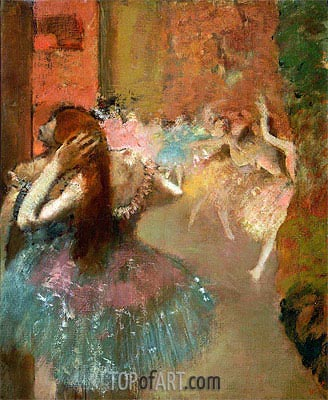 Ballet Scene, undated | Degas| Painting Reproduction