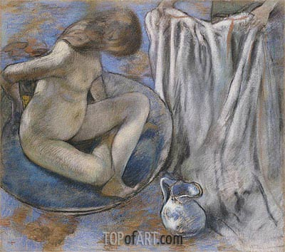 Woman in the Tub, 1884 | Degas | Painting Reproduction