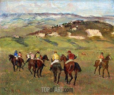 Degas | Jockeys on Horseback before Distant Hills, 1884